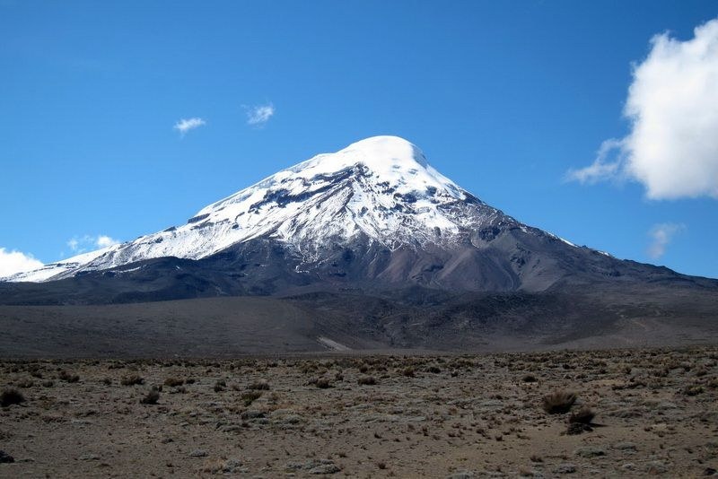 Chimborazo - nejvyšší hora Ekvádoru