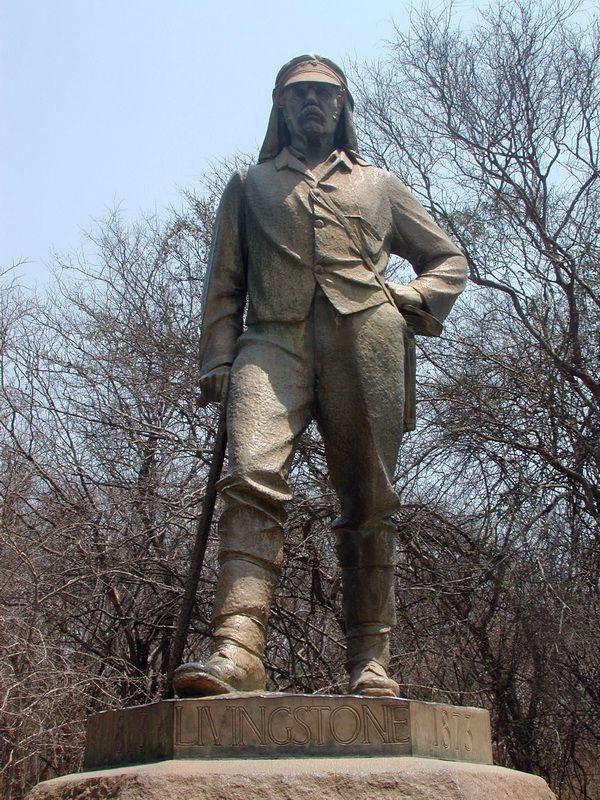 socha Livingstonea ve Victoria Falls (Zimbabwe)