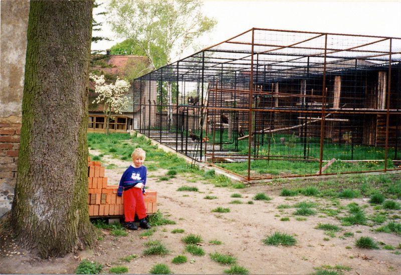 фотография со времени стройки зоопарка (~1995)