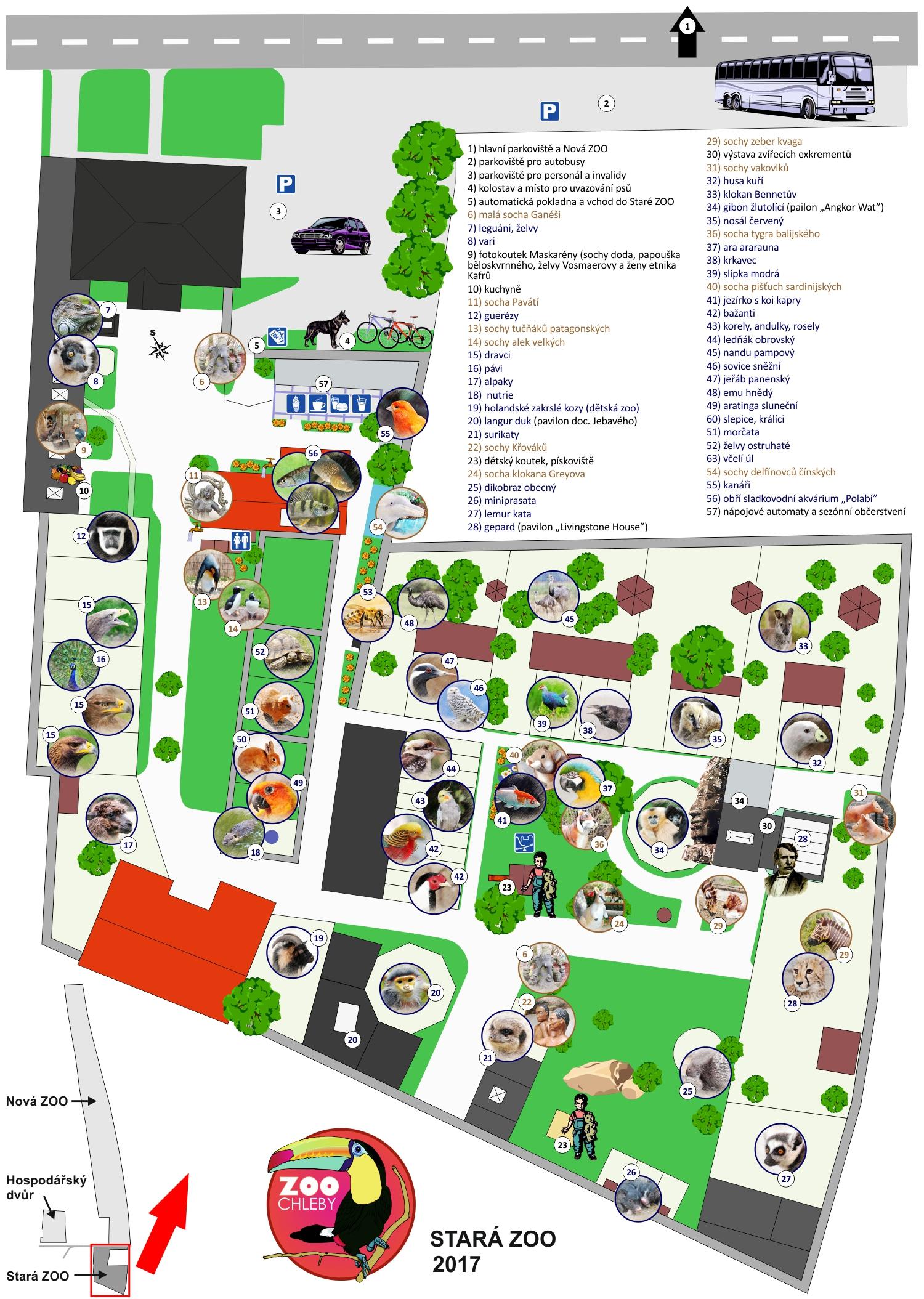 mapa zoo Mapa Staré ZOO | ZOO Chleby mapa zoo